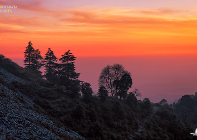 HIMACHAL PRADESH-SUNSET AT MCLEOD GUNJ