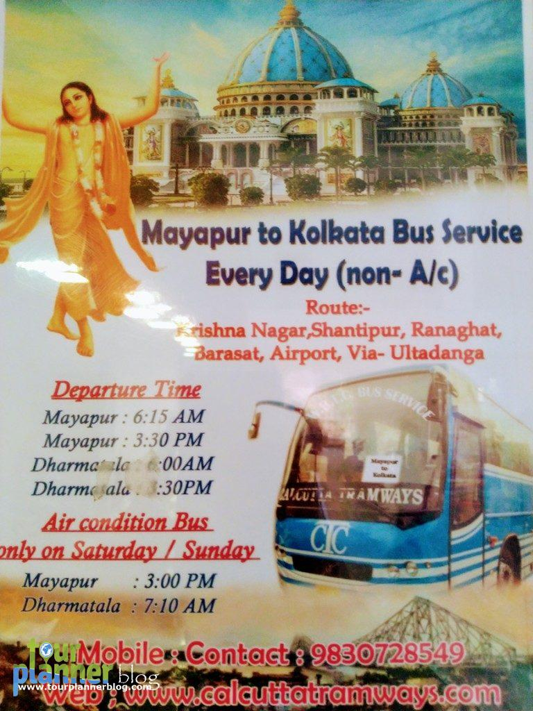 Bus timing for going to Mayapur