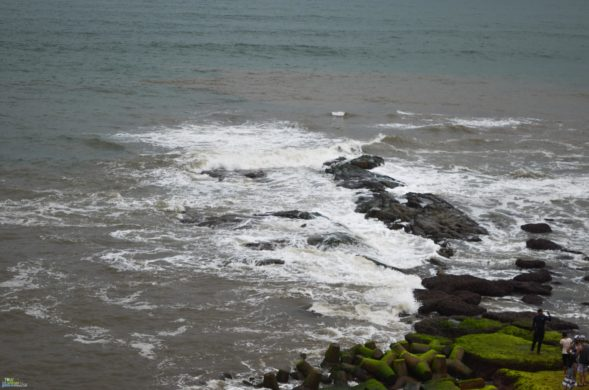 Anjuna Beach in North Goa during monsoon
