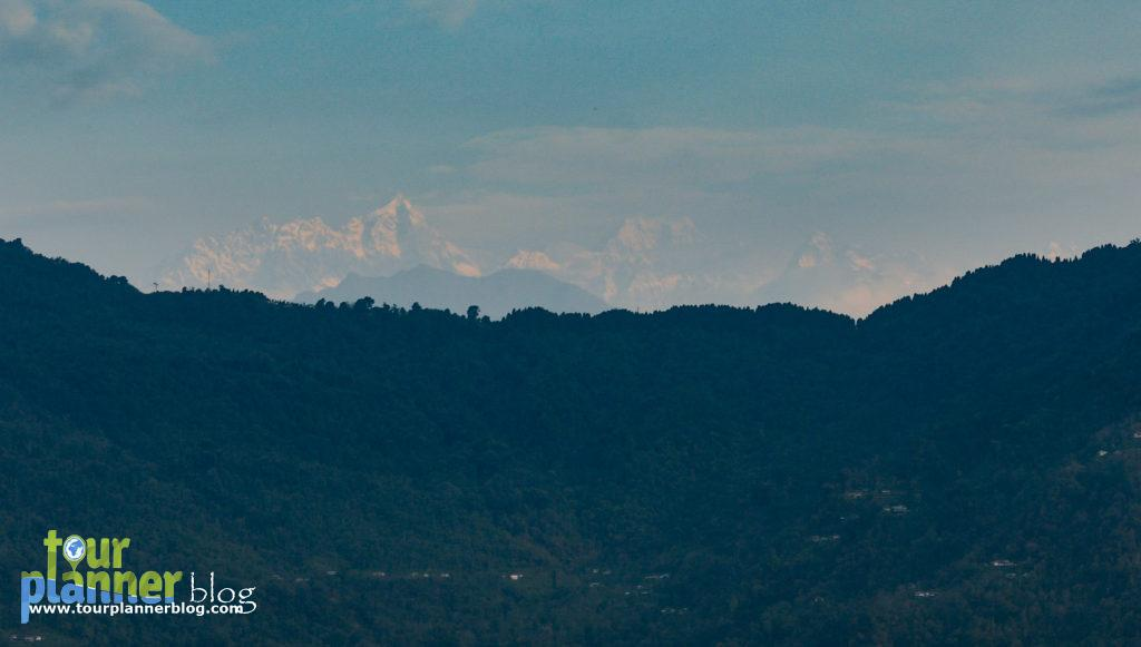 Kanchenjungha Peak from Gangtok hotel