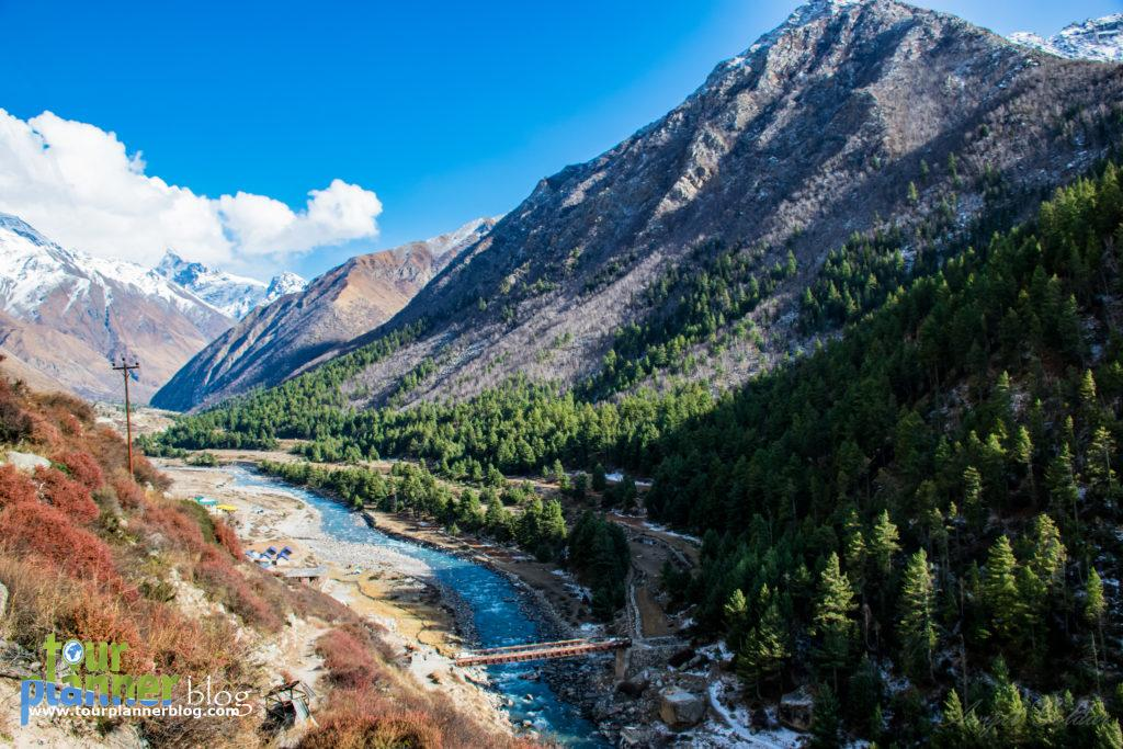 Chitkul, this picture is taken from a restaurant named 'Hindusthan ka aakhri dhaaba'