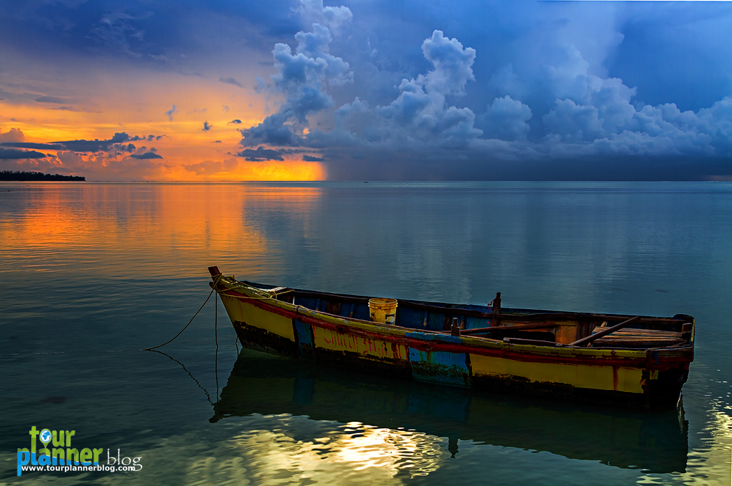 Floating boat at Andaman