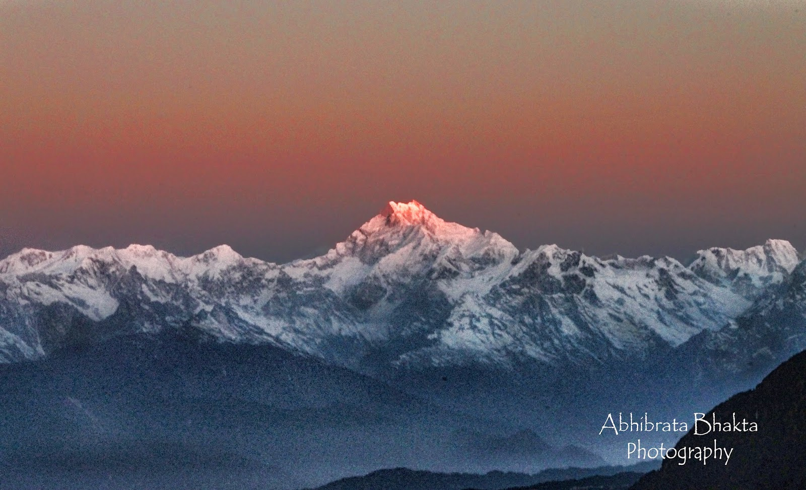Mt. Kanchenjungha from east sikkim