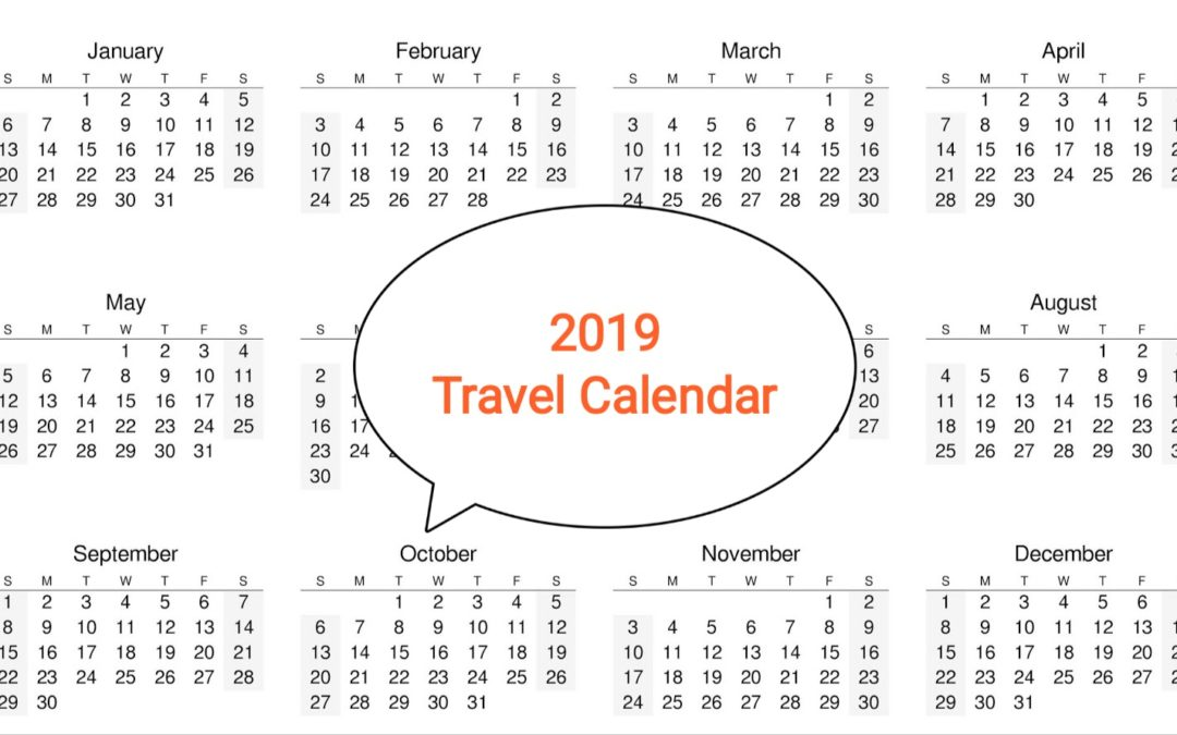 How to Plan your holidays in 2019