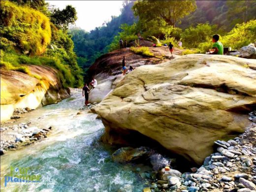 Yelbong, the great river canyon is there only, Now if you plan for camping then walk a bit more to the meeting point of two river at Limbuni ,that's a great place for Riverside camping and fishing,So basically you are doing a River trekking which is fun.