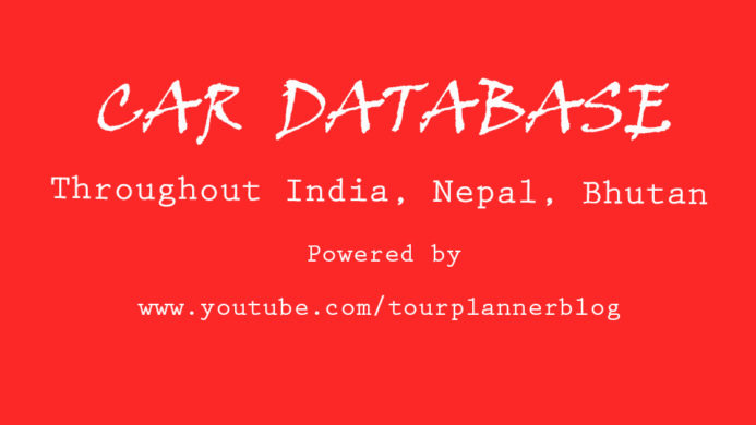 Car Database throughout India, Bhutan, Nepal