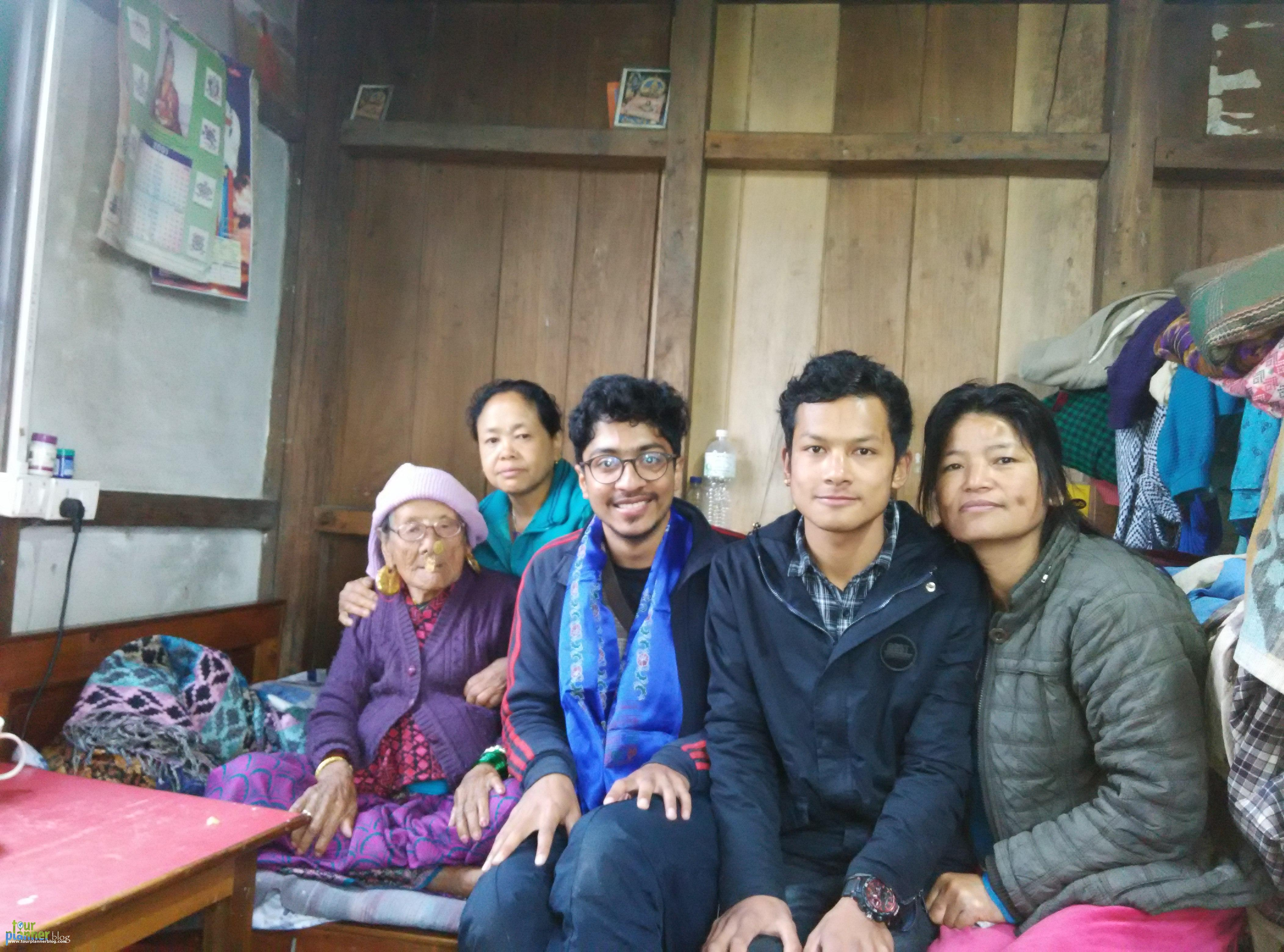 Guest with Hosts of the Homestay